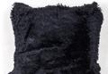 Черная меховая наволочка